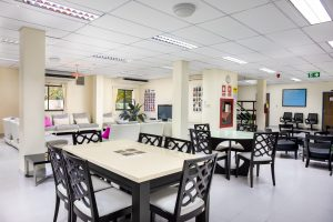 Boarding house common room