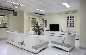 Common room of boarding house